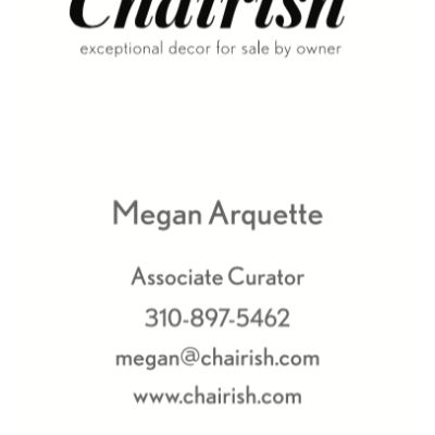 Chairish Business Cards-Front